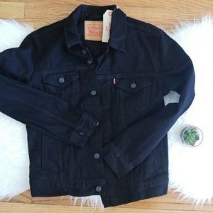 Levis Trucker Black Denim Jacket